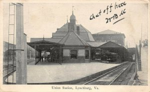LP90 Lynchburg Virginia Postcard Union Station