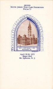 Second South Jersey Postcard Exhibition 29-30 April 1972