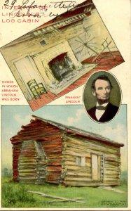 President Abraham Lincoln - Interior of Log Cabin