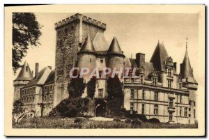 Old Postcard Chateau De La Rochefoucauld
