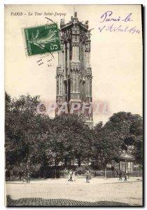 Postcard Old Paris Tour Saint Jacques