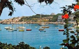 Rockport Harbor in Rockport, Massachusetts and Headlands from Bearkin Neck.
