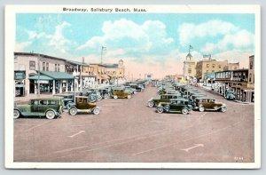 Salisbury Beach MA~Broadway~Steve's Diner~Hotel~I Was on Wildcat~1920s Cars~PC