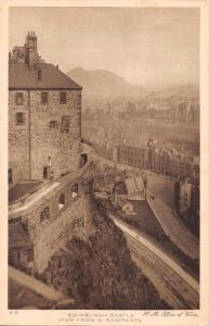 EDINBURGH SCOTLAND UK~CASTLE VIEW FROM SOUTH RAMPARTS~JOHN SWAIN & SON POSTCARD
