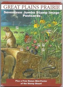US Great Plains Prairie. 17 Jumbo 5X7 Postcards, with Mini-Poster