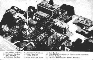 Ohio Cleveland Aerial View The Jewish Hospital Association Burnett Avenue