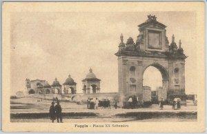 49769    CARTOLINA d'Epoca - FOGGIA citta' : Piazza XX SETTEMBRE 1918