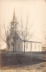 B26/ Howard Ohio Postcard Real Photo RPPC c1910 Disciple Church Building