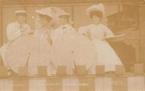 The Jollies Concert Party~Quartet~Ladies~Parasols~Vaudeville Stage~c1908 RPPC