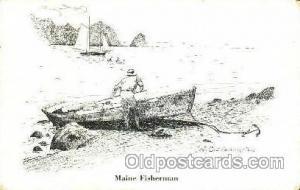 Maine Fisherman Boat, Boats, Postcard Postcards  Maine Fisherman