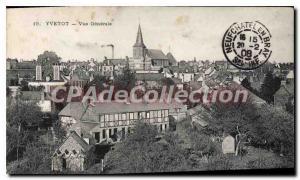 Old Postcard Yvetot Vue Generale