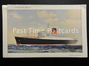 c1950's - Unused Ships Letter Postcard - Cunard R.M.S. Sylvania