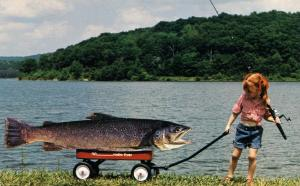 Exaggeration - Daddy'll Never Believe This One (Giant fish on kid's little re...