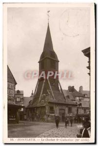 Old Postcard Honfleur Sainte Catherine Bell