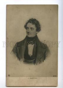 156109 Johann NESTROY OPERA Singer playwright Vintage PHOTO