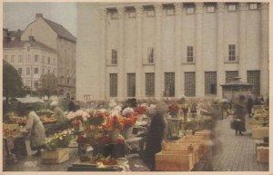 Haymarket Flower Vendors Konserthuset Stockholm Postcard
