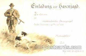Hunting Postcard Postcards Unused
