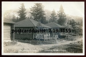 3155 - JASPER PARK Alberta 1930s Lodge Bungalows. Real Photo PC by Slark