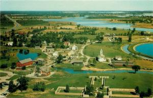 Upper Canada Village Ontario~Aerial View~Homes~Church~Business~Barns~1950s