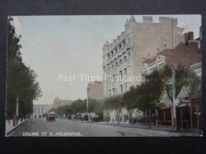 Australia MELBOURNE Collins Street Old Postcard by R.E.M.