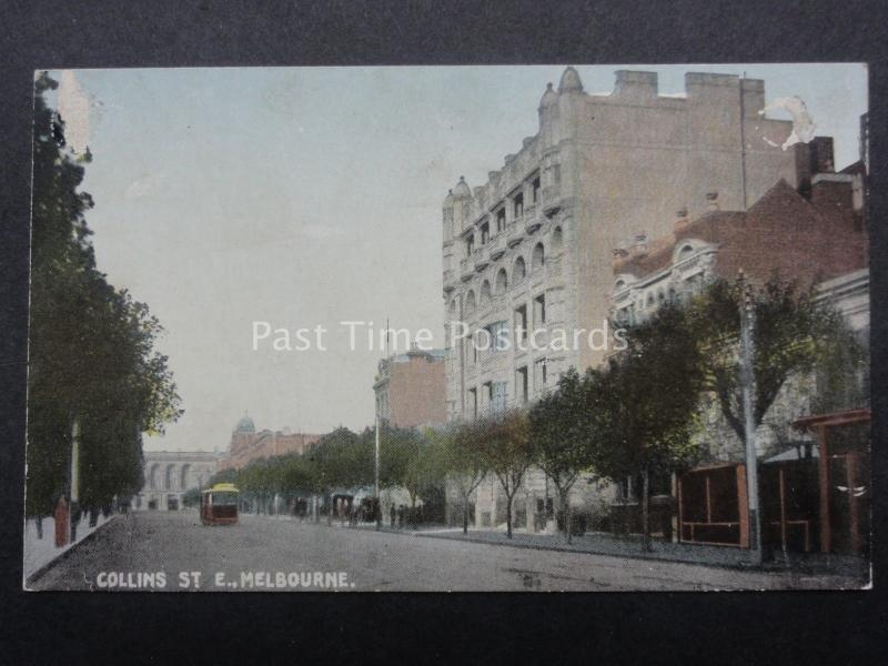 Australia MELBOURNE Collins Street Old Postcard by R.E.M.