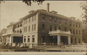 Hamilton MT Ravalli Hotel c1910 Real Photo Postcard