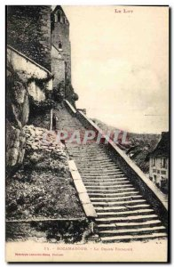 Rocamadour - Grand Staircase - Old Postcard