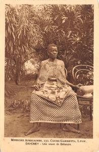 B95150 benin dahomey une veuve de behanzim types folklore costumes africa types