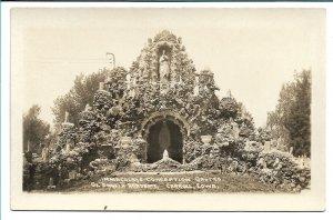 Carroll, IA - Immaculate Conception Grotto, St. Angela Academy - RPPC