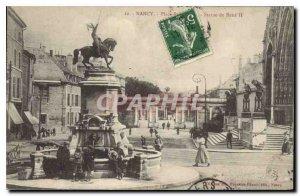 Old Postcard Nancy Place Statue of Rene II