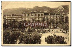 Old Postcard Toulon Place de la Liberte
