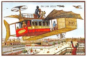 Postcard, A Vision of The Year 2000 in the 19th Century, Air Bus 2K3