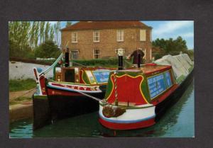 UK England British Narrow Boats Braunston Grand Union Canal Postcard