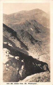 LPS10 Mt. Adams New Hampshire View from Mt. Washington Postcard RPPC