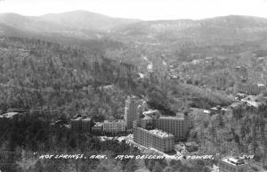 Hot Springs Arkansas Observation Tower Real Photo Antique Postcard K46540