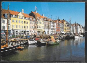 Denmark, Copenhagen, Nyhavn, mailed 1993