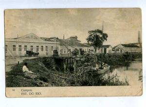 192720 BRAZIL CAMPOS Est do Rio Vintage postcard