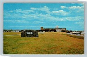 Columbus, Muscogee County Airport Terminal Control Tower Chrome Georgia Postcard