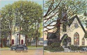 Baptist Church Congregational Churches Arcade New York postcard
