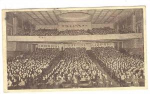 Interior, N C R Schoolhouse, Every seat occupied, University of Dayton, Ohio,...