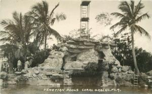 Coral Gables Florida Venetian Pools View #2 1920s RPPC Photo Postcard 13018
