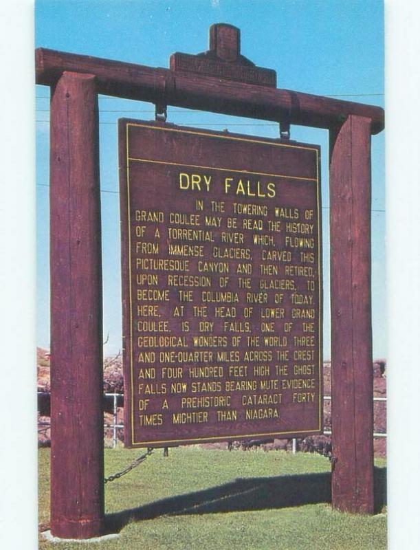 Pre-1980 OLD HISTORICAL SIGN Coulee City - Near Wenatchee & Ephrata WA E5934@