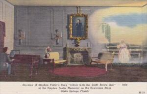 Florida White Springs Diorama Of Stepen Forter's Song Jeanie With The Light B...