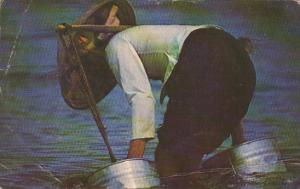 Vietnam Native Gathering Water From River