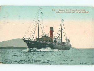Pre-chrome FERRYBOAT TO NEWFOUNDLAND Postmarked St. John New Brunswick NB AF5399