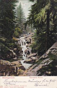 Waterfalls, Steinerne Renne, WERNIGERODE (Saxony-Anhalt), Germany, PU-1905