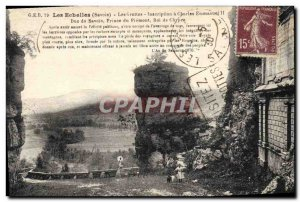 Old Postcard Chateau Les Caves Ladders