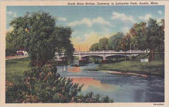 Minnesota Austin South Main Bridge Gateway To Lafayette Park