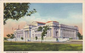 Philippines Manila Legislative Building 1941 Curteich