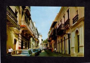 PR Typical Street Scene Old San Juan Puerto Rico Postcard